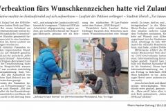 RNZ Bericht Infostand Fußgängerzone 18122017